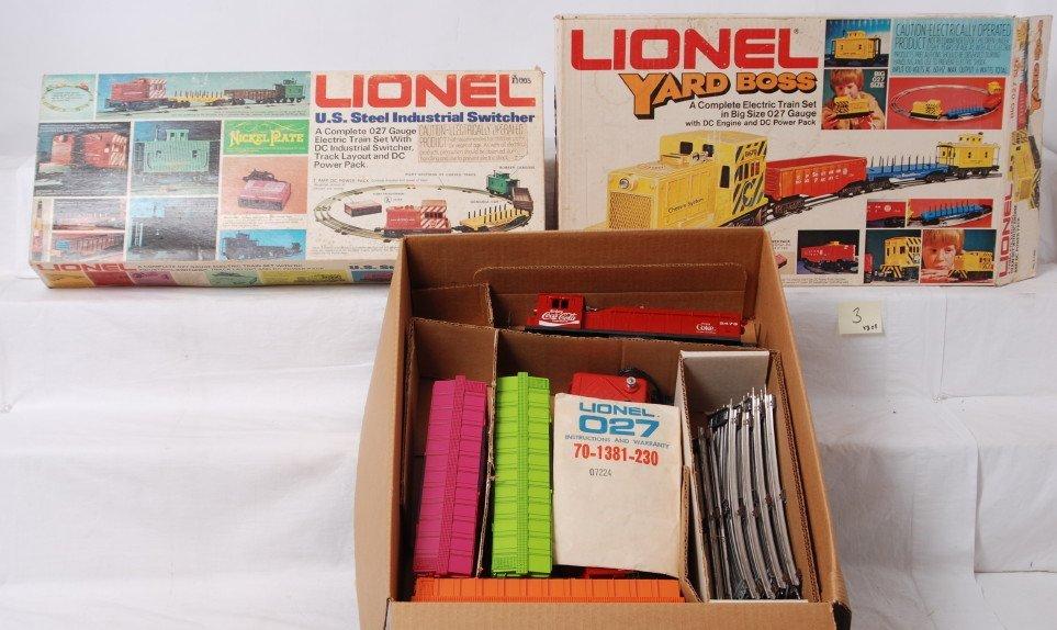 3: Lionel 1660, 1380, and 1463 Coca Cola set