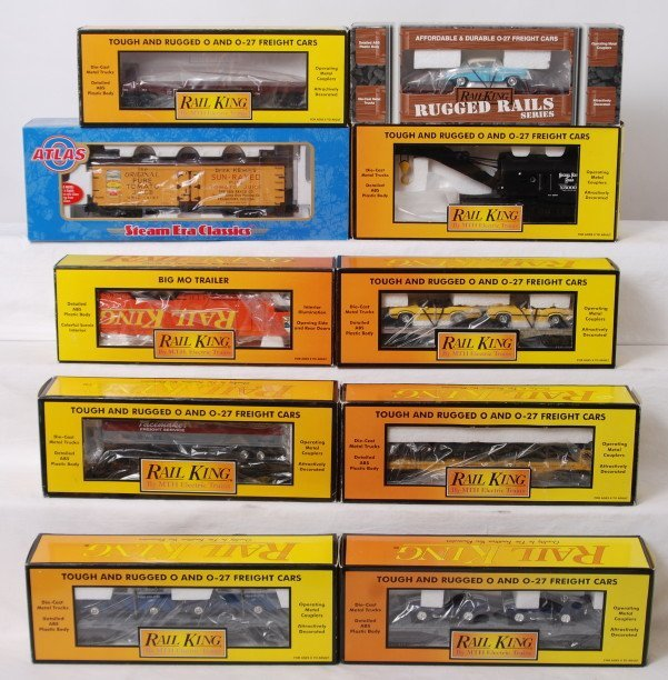 4: 10 Railking and Atlas O freight cars