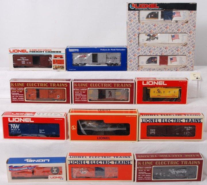 5: 14 Lionel, K Line, IR freight cars