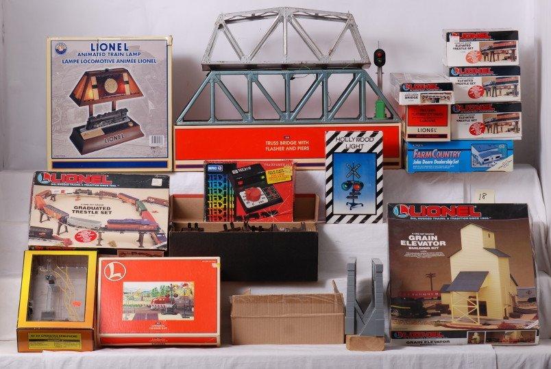 18: Lionel bridges, accessories, etc