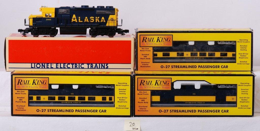 20: Custom Alaska railroad passenger set