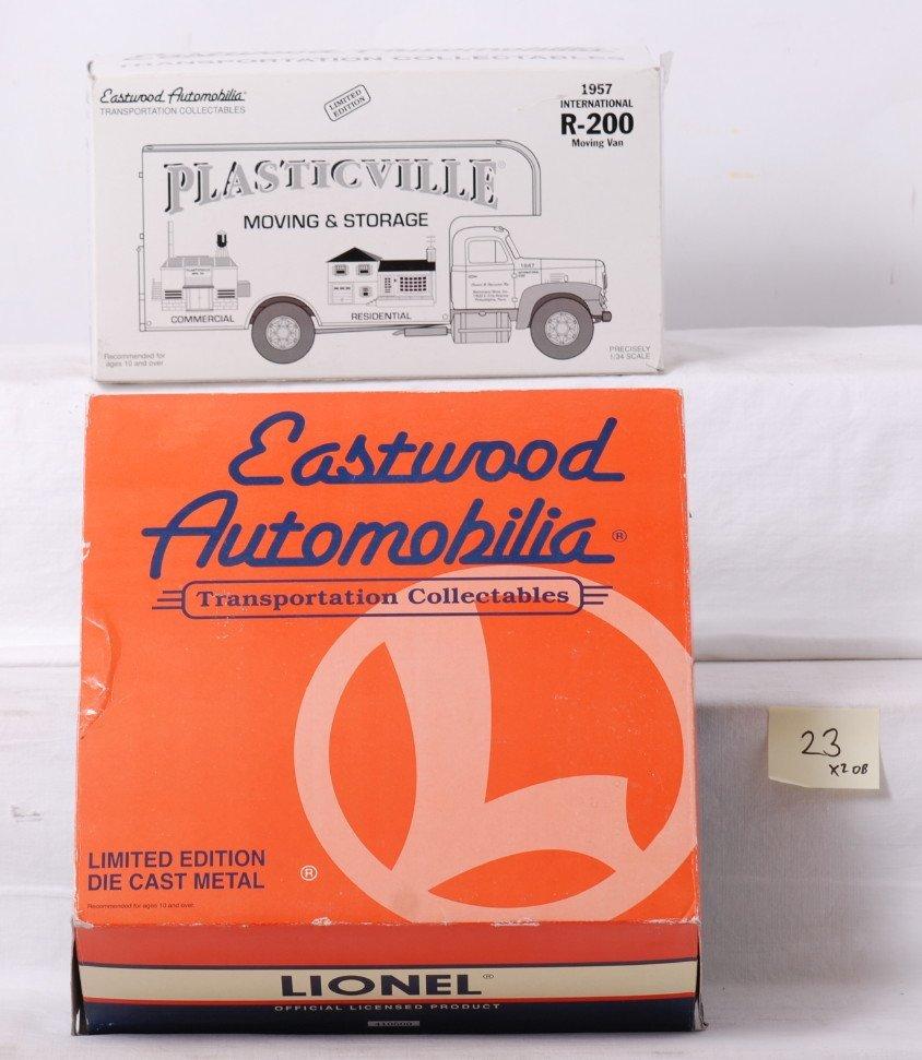 23: 2 Eastwood Lionel and Plasticville trucks