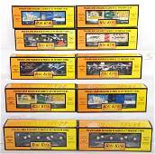 376: 10 Railking freight cars 7858, 7671, 74356, etc