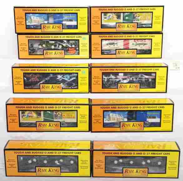 376: 10 Railking freight cars 7858, 7671, 74356, etc