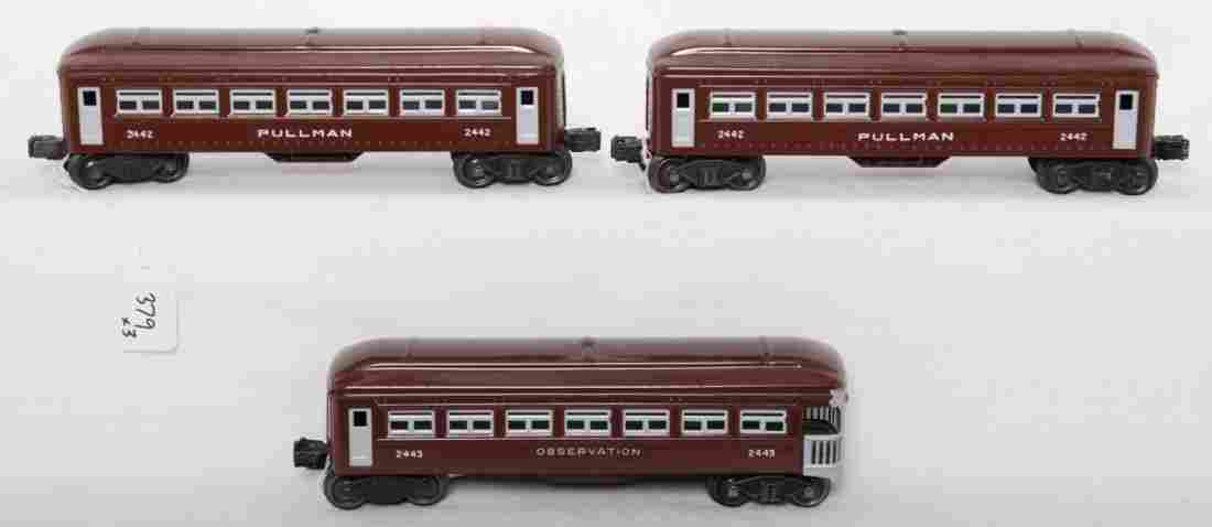 379: Lionel 2442, 2442, and 2443 restored passenger car