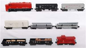 1014: Lionel 1055, 6472, flatcars, 2452, 2452, 2456, 64