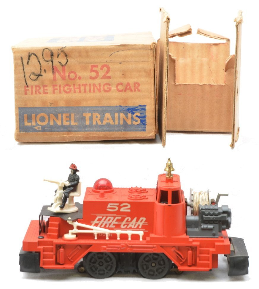 1: Lionel 52 Fire Fighting Car LIKE NEW Boxed