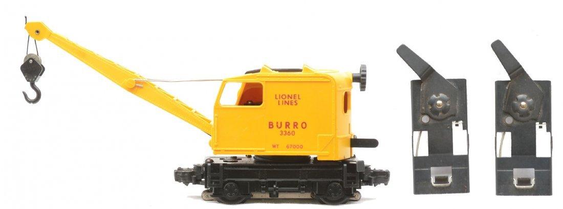 11: Lionel Postwar 3360 Burro Crane