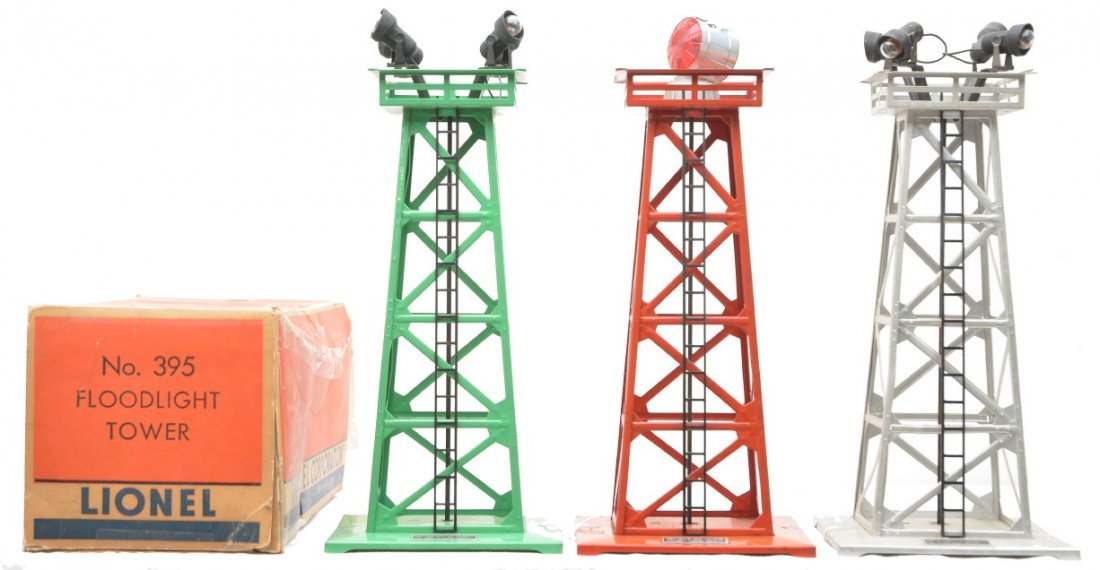14: Lionel 394 Beacon two 395 Floodlight Towers