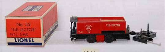 1095: Lionel 55 tie-jector car with ties, trips, in OB