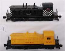 1277: Lionel 616 A.T.S.F. and 635 U.P. NW-2 diesel swit