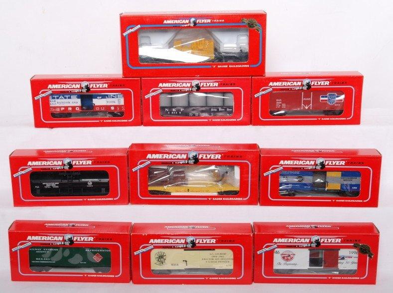 4: 10 American Flyer cars 48316, 48510, 49003, etc