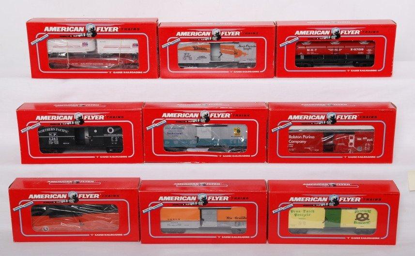 10: 9 American Flyer TCA cars 48204, 48497, 48492, etc
