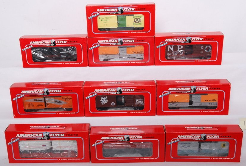 11: 10 American Flyer TCA and NASG cars 48492, 48204, e