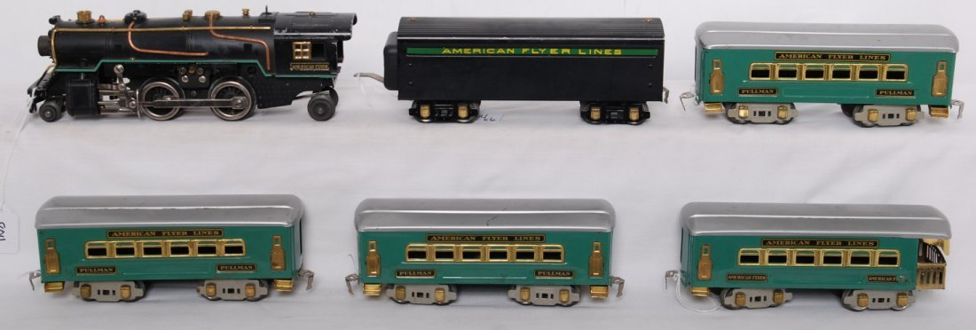 804: American Flyer O gauge steam passenger train