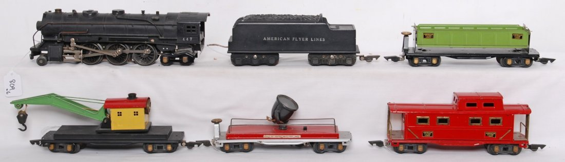809: American Flyer O gauge steam freight set, 447