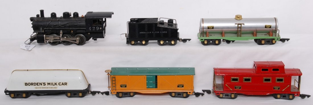 817: American Flyer O gauge steam freight train