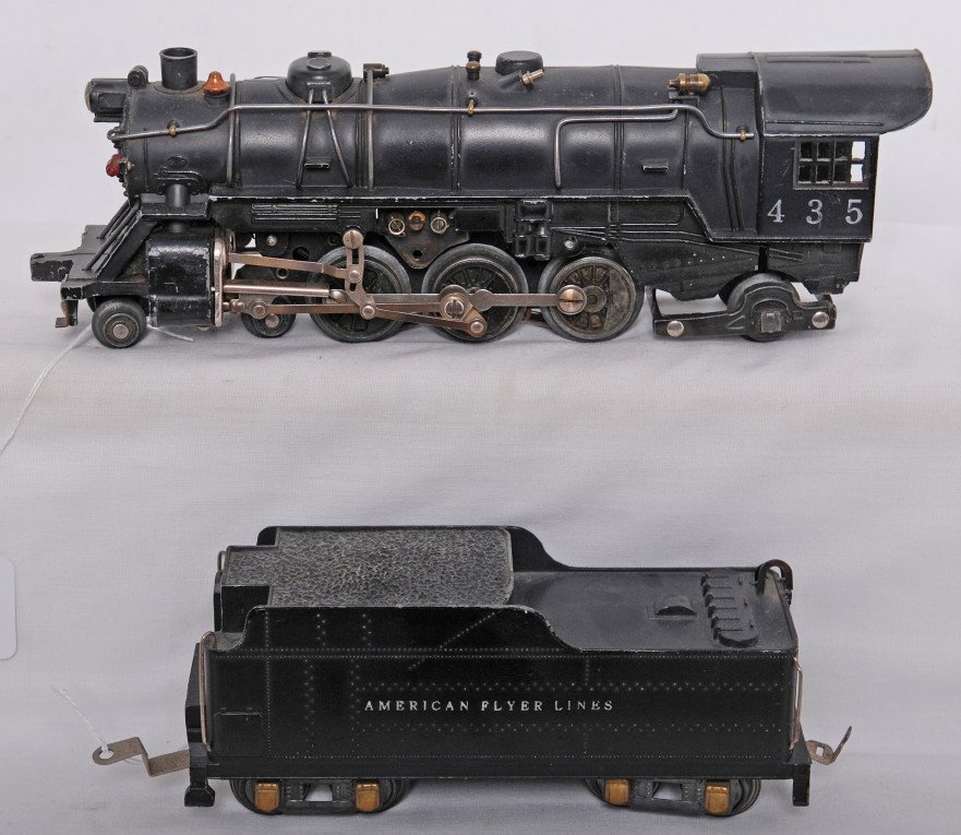 821: American Flyer O gauge 435 steam loco and tender