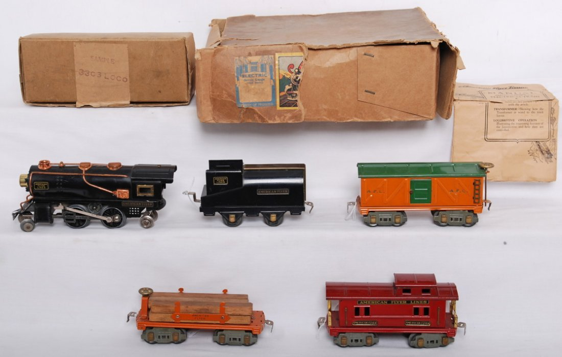 824: American Flyer Narrow Gauge set w/OB, 3303 loco...