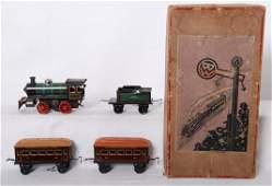 875: Bing miniature railroad system Mechanical set in O