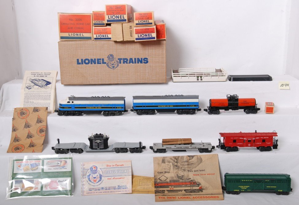 1044: Lionel 2269W Baltimore and Ohio F3 freight, OB
