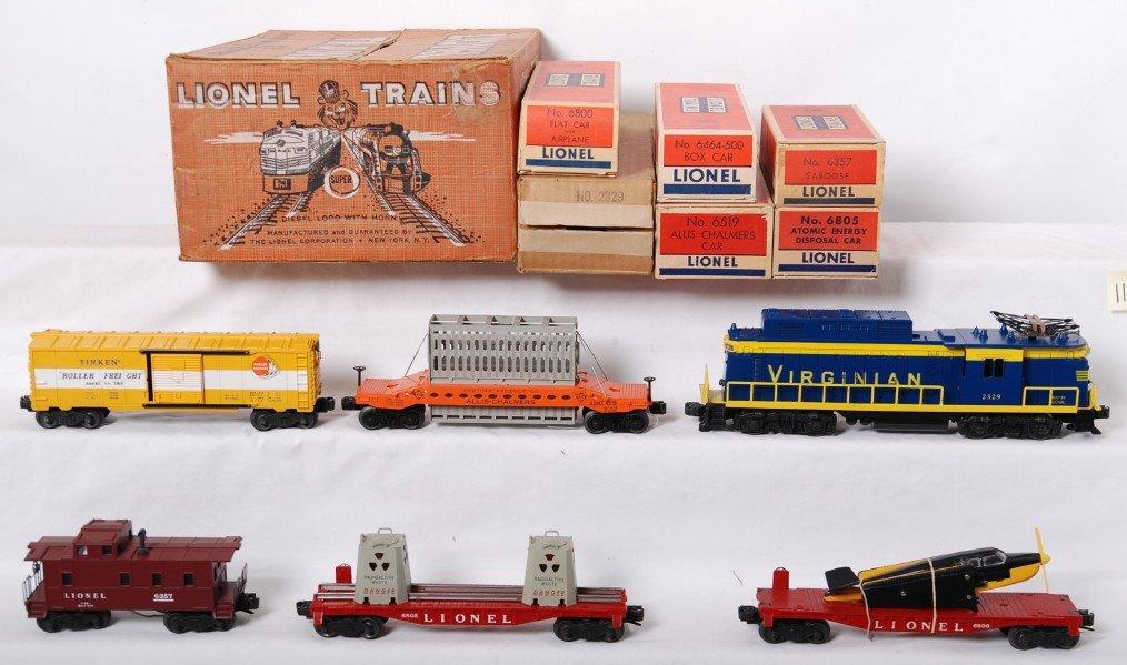 1126: Lionel 2505W Virginian rectifier freight set in O - 2