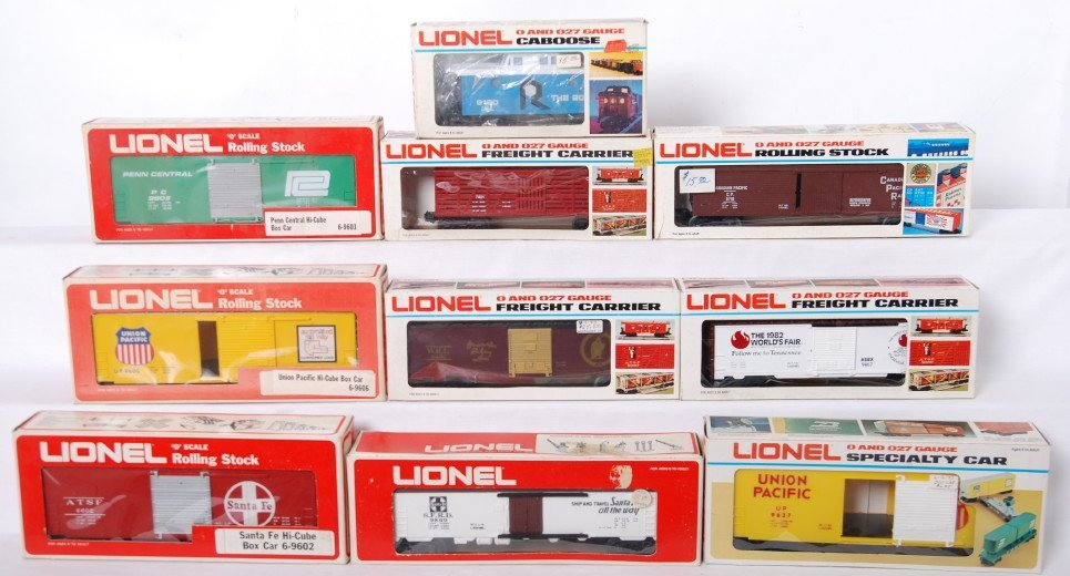 6: 10 Lionel freight cars 9603, 7401, 9466, 9602