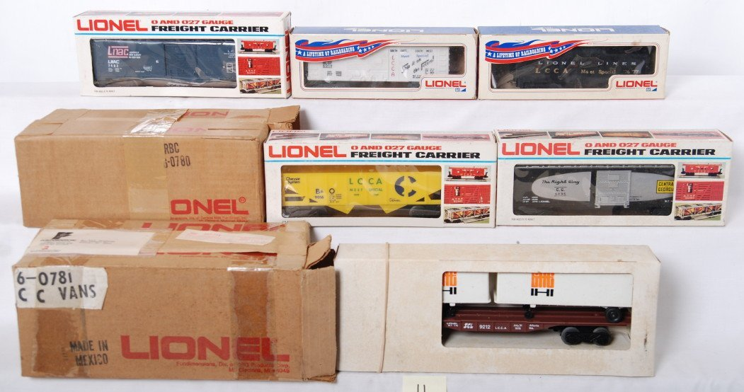 11: 10 LRRC and LCCA cars 7403, 0780, 0781, etc