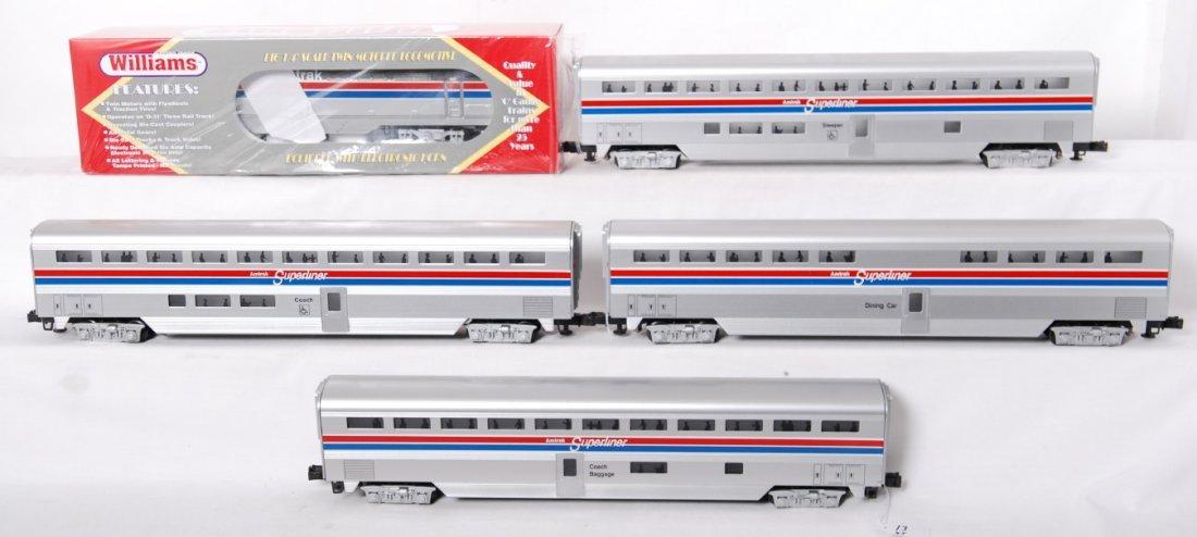 13: Williams Amtrak Genesis and 4 Superliner cars
