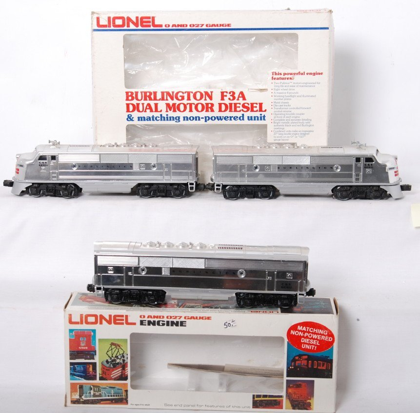 24: Lionel 8054 8052 Burlington F3 A-B-A