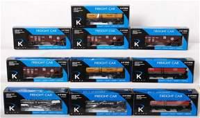 135 10 K Line Train 19 freight cars PRR NYC GE etc