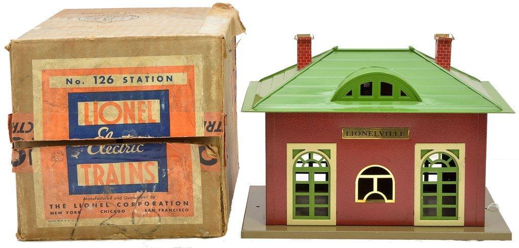 3: Lionel Prewar 126 Lionelville Station LIKE NEW OB