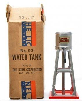 5: Lionel Prewar 93 Aluminum  Water Tank MINT Boxed