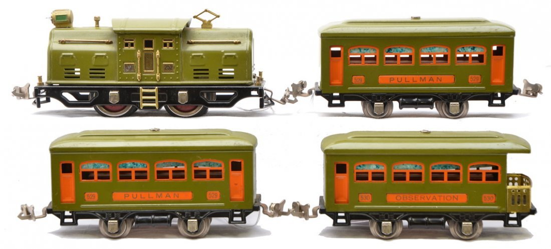 10: Lionel Olive Green Pass Set 294 252 2-529 530