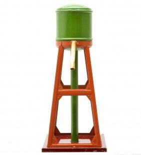 13: Lionel 93 Pea Green/Terra Cotta Water Tank LN