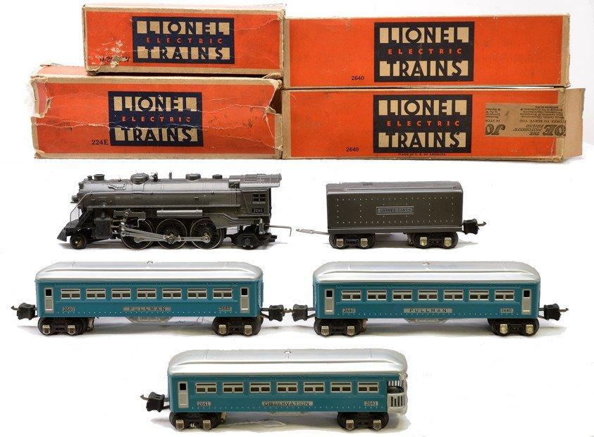 14: Lionel Light Blue Passenger Set no. 178W LN OB