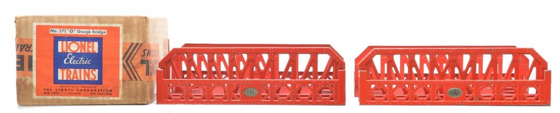 21: Lionel 271 Girder Bridge Set w/two 270 Bridges