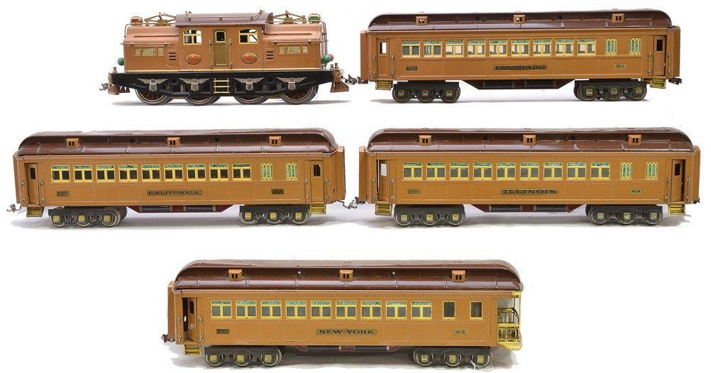 380: Desirable Lionel 2-Tone Brown State Set 411E