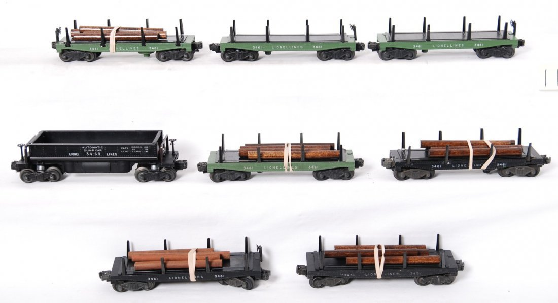 11: Lionel 3451, six 3461, 3469 operating freight cars