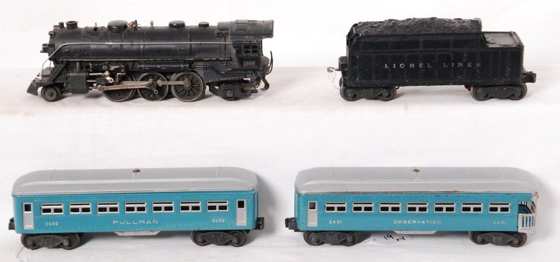 19: Lionel 1666, 2466WX, 2430, 2431 passenger train