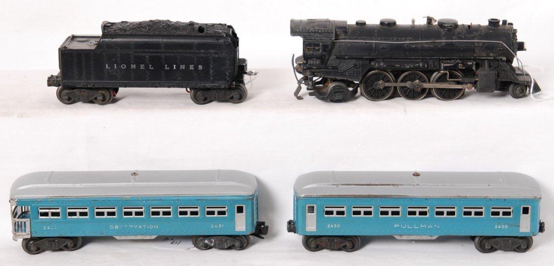 19: Lionel 1666, 2466WX, 2430, 2431 passenger train - 2