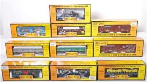 574 10 Railking freight cars NYC PRR CSX etc