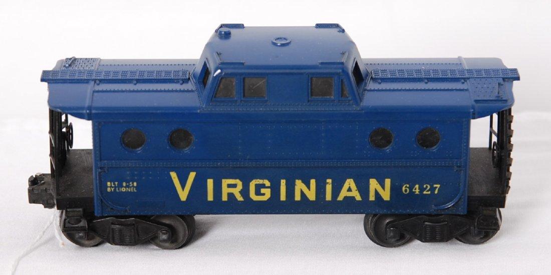 804: Lionel 6427 Virginian porthole caboose, heat stamp