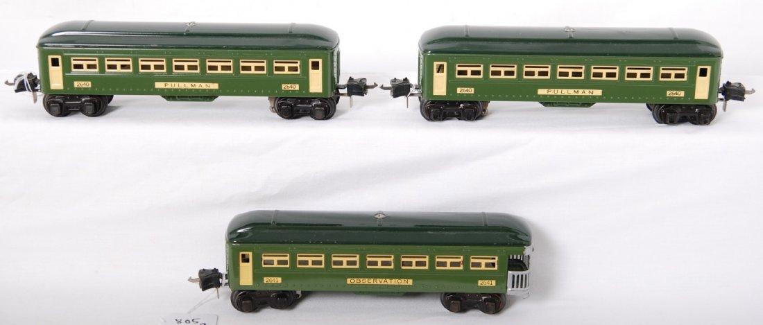 805: Lionel 2640, 2640, 2641 2-tone green passenger car