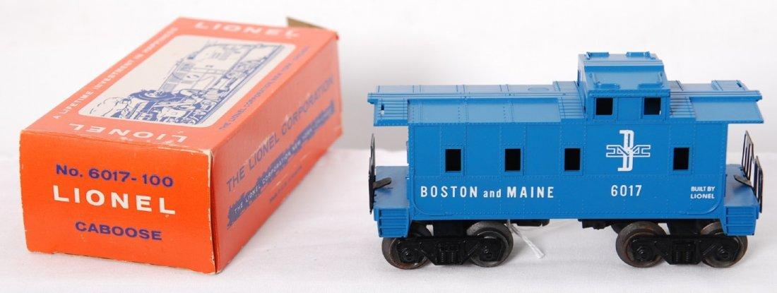 808: Lionel 6017-100 Boston and Maine caboose in OB
