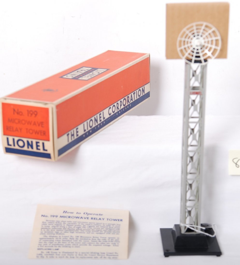 810: Lionel 199 microwave relay tower in OB