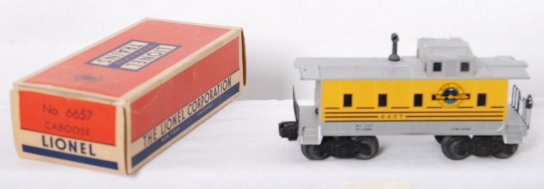 818: Lionel 6657 Rio Grande caboose in OB