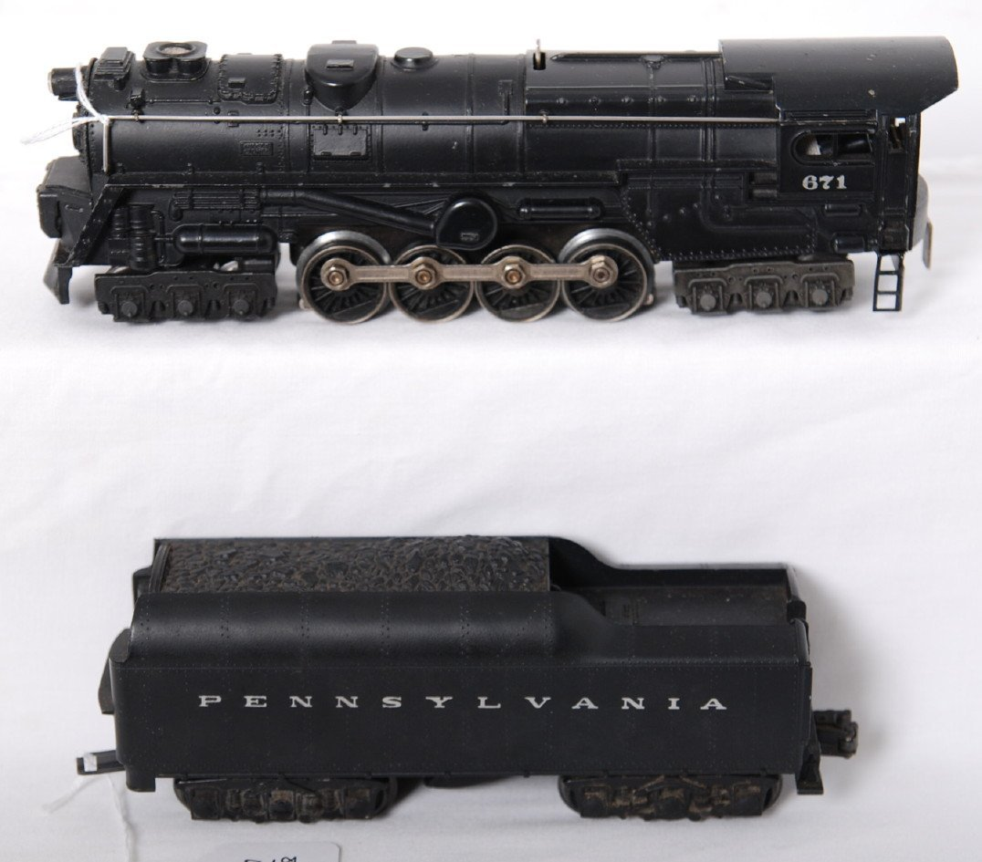 819: Lionel 671 turbine and 2671W w/silver letters