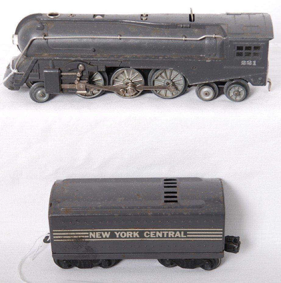 823: Lionel 221 steam loco and tender, aluminum drive w