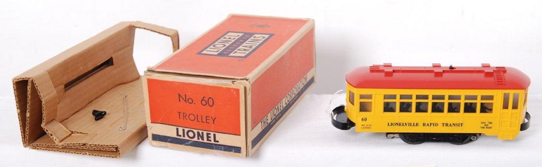 824: Lionel black lettered No. 60 trolley w/motorman in